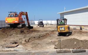 MJ Davidson Groundwork Contractors work on a construction site