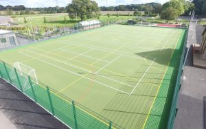 all-weather sports surface construction